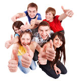 Group people with thumbs up. Stock Image