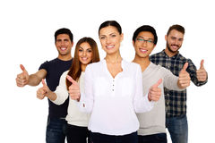 Group of people with thumbs up. Portrait of a smiling group of people with thumbs up Royalty Free Stock Photo