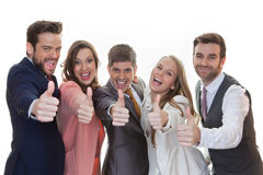 Group of people with thumbs up royalty free stock images