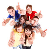 Group people with thums up. Stock Image