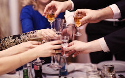 Group of people toasting at a celebration Stock Photography