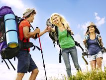 Group people on travel. Royalty Free Stock Photo