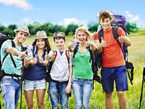 Group people on travel. Stock Photo