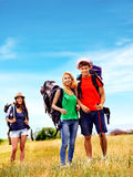 Group people on travel. Royalty Free Stock Photos