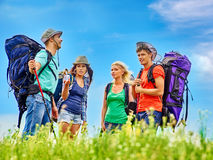 Group people on travel Stock Photos