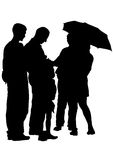 Group people with umbrella Royalty Free Stock Photography