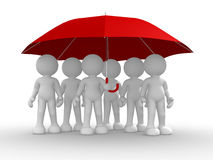 Group of people under the umbrella Royalty Free Stock Images