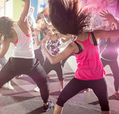 Group of people at urban dance class Royalty Free Stock Images