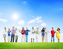 Group of People Using Communication Devices Royalty Free Stock Photo