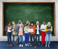 Group Of People Using Digital Device Technology Concept Stock Photography