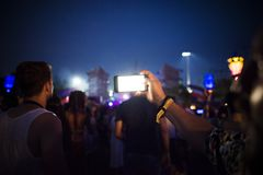 Group of People Using Smartphones during Nighttime Stock Photography