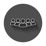 Group of people vector icon in line style. Persons icon illustra Stock Photo