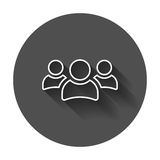 Group of people vector icon in line style. Persons icon illustra Stock Image