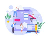 Elections and voting vector. Group of people voting. Elections and online voting. Vector stylized illustration royalty free illustration