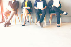 Group of people waiting for job interview royalty free stock images