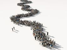 Group of people waiting in line royalty free illustration