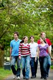 Group of people walking Royalty Free Stock Images