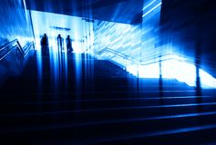Group of people walking city stairs background royalty free stock photography
