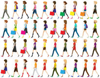 Group of people walking Stock Photography