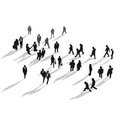 Group of people walking stock illustration