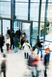 Group of People Walking in Shopping Centre, Motion Blur Royalty Free Stock Photo