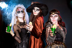 Group of people  wearing for Halloween Royalty Free Stock Image