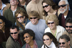 Group Of People Wearing Sunglasses Royalty Free Stock Images