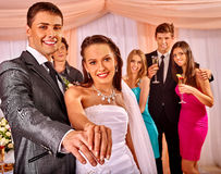 Group people at wedding dance Royalty Free Stock Photos