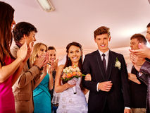 Group people at wedding dance Stock Photography