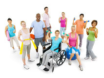 Group of People Wellbeing Fitness stock photo