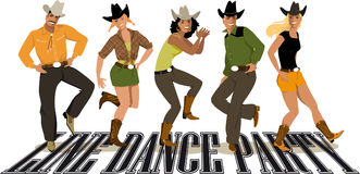 Line Dance Party Stock Photos