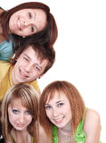 Group of people on white. Royalty Free Stock Photo