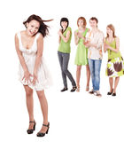 Group of people on white. Stock Photography
