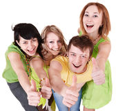 Group of people on white. Royalty Free Stock Images