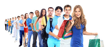 Group of people on white Royalty Free Stock Photo