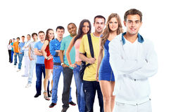 Group of people on white Stock Photos