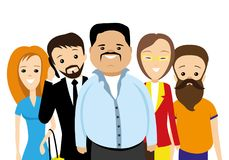 Group of people. Group of people on a white background stock illustration