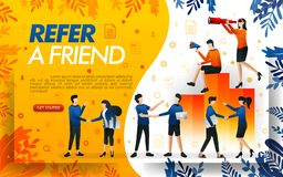 Group of people who shake hands and make deals, businesses to refer a frined and multi level marketing . concept vector ilustratio. N. can use for, landing page vector illustration
