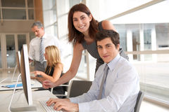 Group of people at work. Co-workers in business training Royalty Free Stock Photo