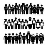 Group of People Worker from Different Profession Cliparts Stock Photography