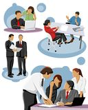 Group of people working. In office Royalty Free Stock Images