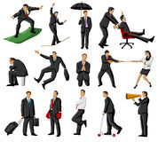 Group of people working. Group of people doing crazy things Royalty Free Stock Photography