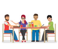 Group of people working around the table Stock Image