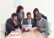 Group of people working in a business meeting Royalty Free Stock Photos