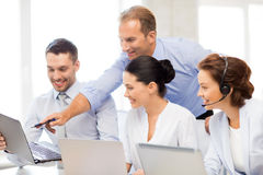 Group of people working in call center Royalty Free Stock Photography