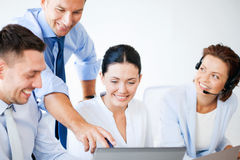 Group of people working in call center Stock Photo