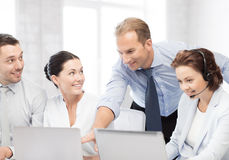 Group of people working in call center Stock Photography