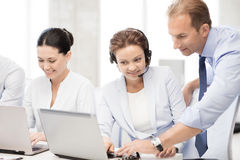 Group of people working in call center Royalty Free Stock Images