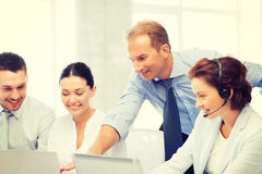 Group of people working in call center Stock Images