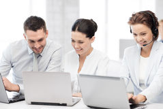 Group of people working with laptops in office Royalty Free Stock Image
